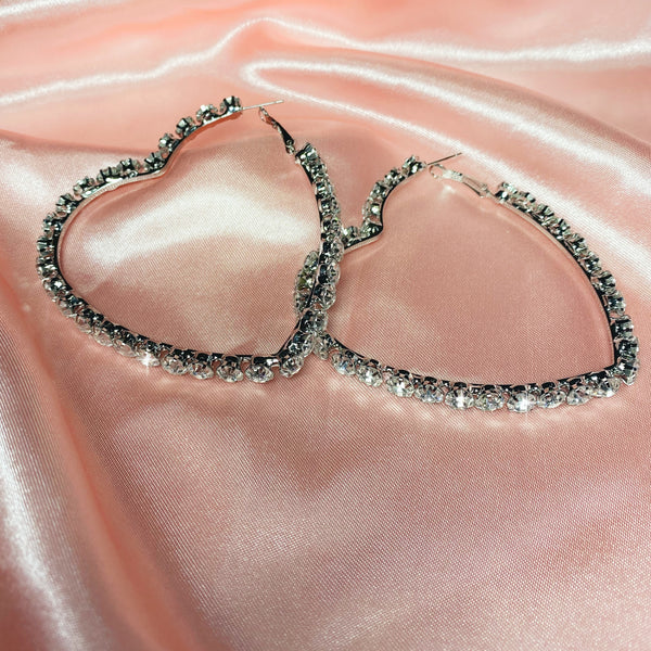 Big Heart Oversized Hoops