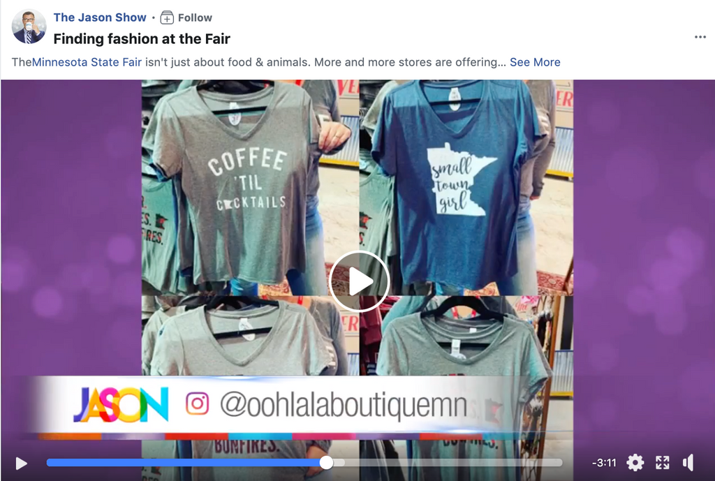 Ooh La La Boutique featured on The Jason Show