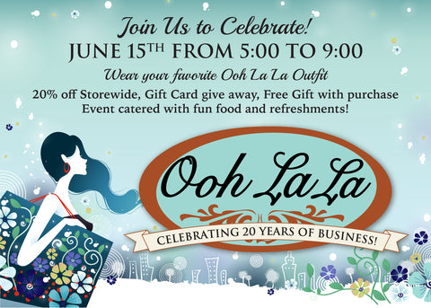 Ooh La La 20th anniversary party on june 15, 2017
