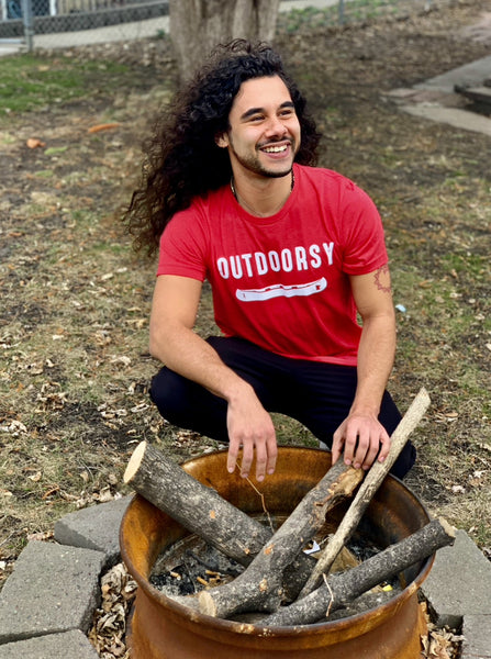 Outdoorsy Men's T-Shirt in Red