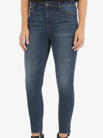 Connie High Rise Skinny Fray Hem