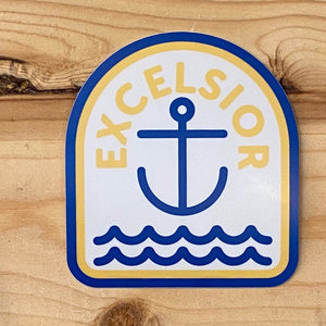 Excelsior Anchor Vinyl Decal Sticker