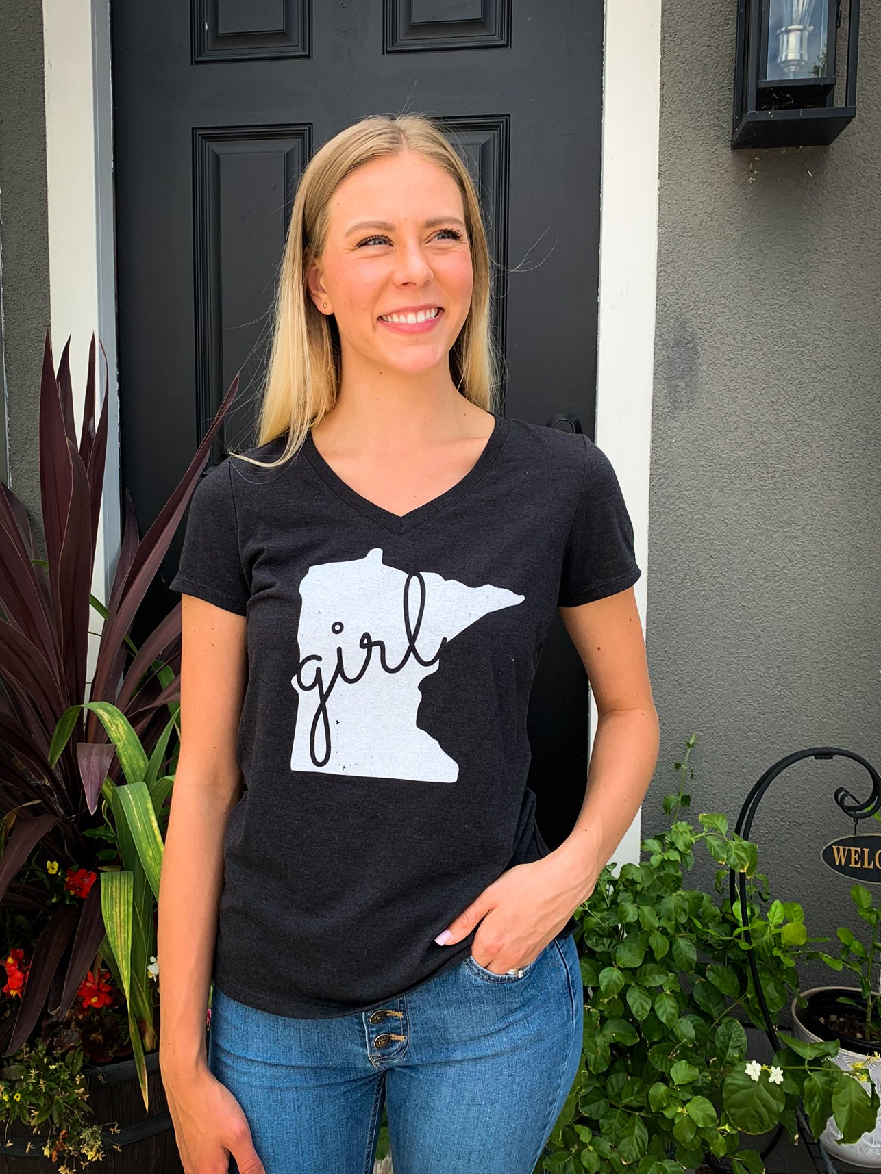 Minnesota Girl V-Neck Tee