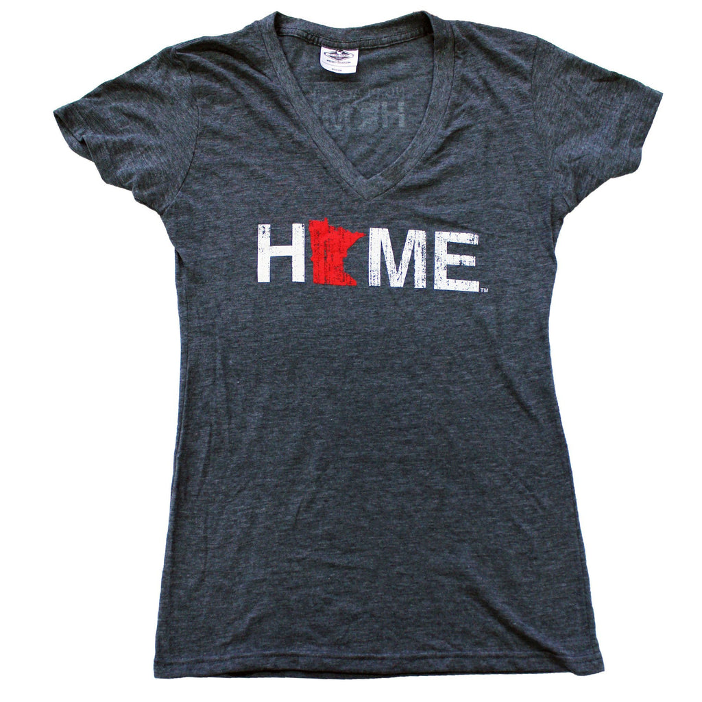 Minnesota Home Ladies V-Neck Tops, My State Threads- Ooh La La Free Shipping