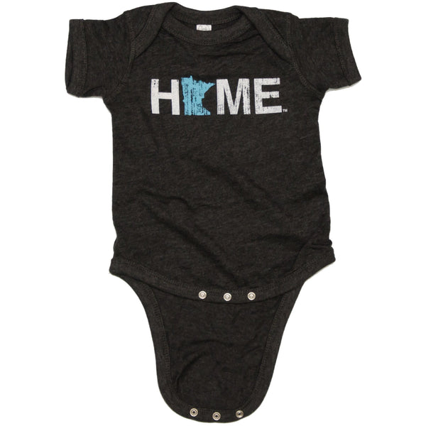 Minnesota Home Onesie Baby Blue Onesie, My State Threads- Ooh La La Free Shipping
