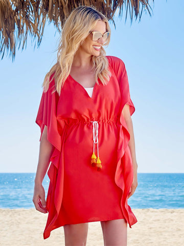Beach Tunic In Coral UPF45+