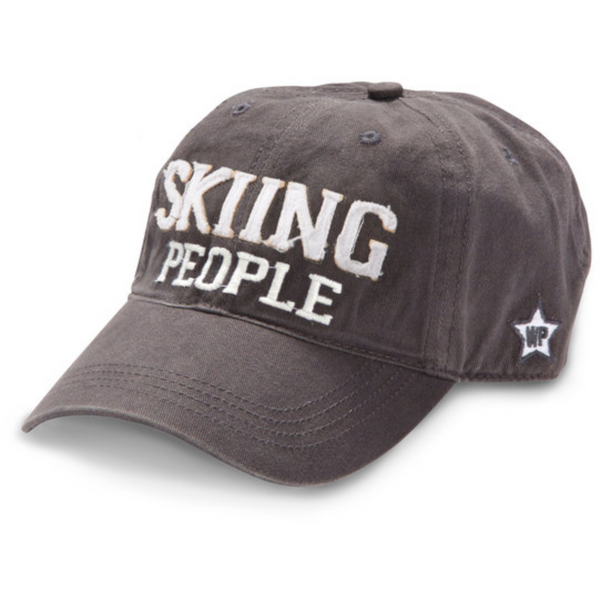 Skiing People Hat Hats, OohLaLaBling- Ooh La La Free Shipping