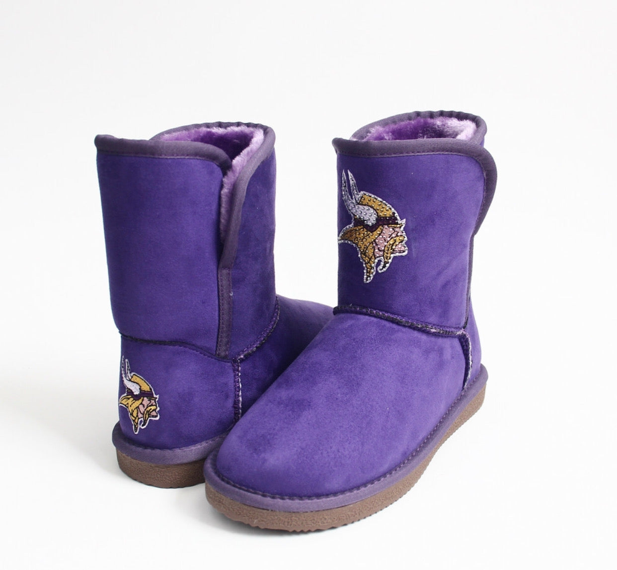Women's Minnesota Vikings Purple Cuce The Rookie Mini Boots