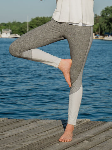 Lysse Olivia Grey Combo Leggings