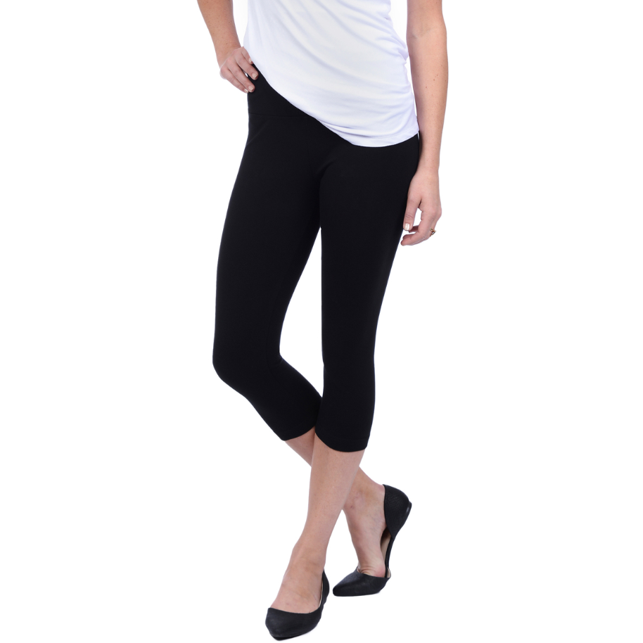 Cotton Capri Leggings in Black Pants, Lysse- Ooh La La Free Shipping