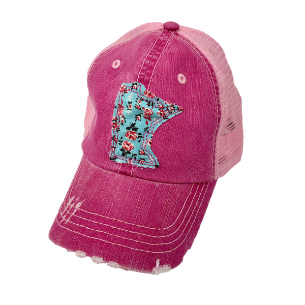 pink minnesota hat ladies womens cap excelsior mn