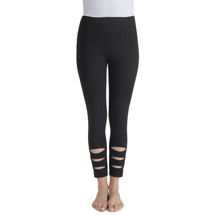 Aster Crop Leggings in Black Pants, Lysse- Ooh La La Free Shipping