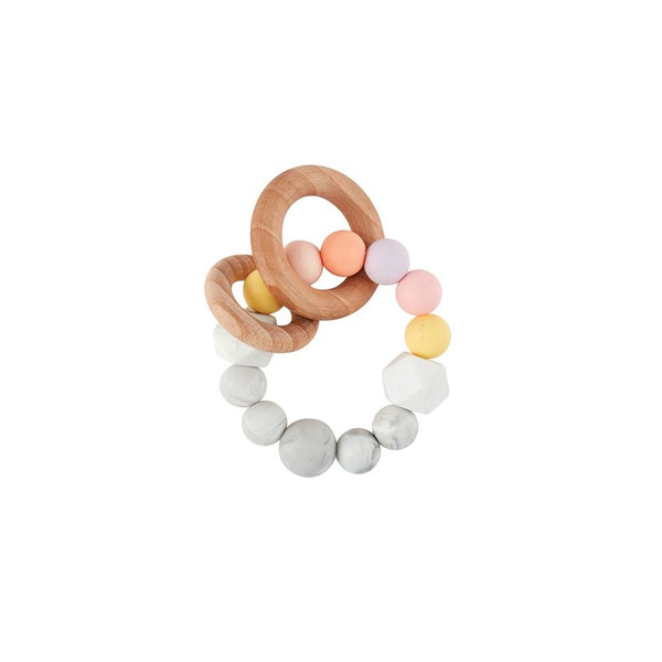 Silicone and Wood Teething Ring
