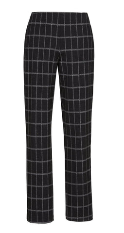 alembika-narrow-check-print-pants-201-p667c