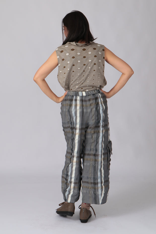 Meika Plaid Pants ~ 10122098-11 - Rootchi