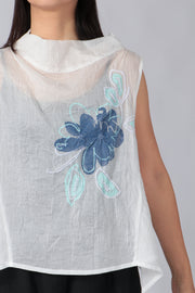 Hana Embroidered Top ~ 10122534-01 White - Rootchi