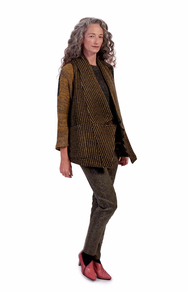 Beau Tweed Vest ~ AJ516H Honey - Rootchi