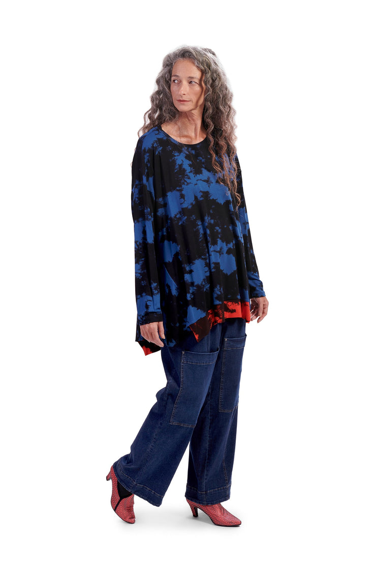 Vibe Tie-Dye Top ~ AT226B Blue - Rootchi