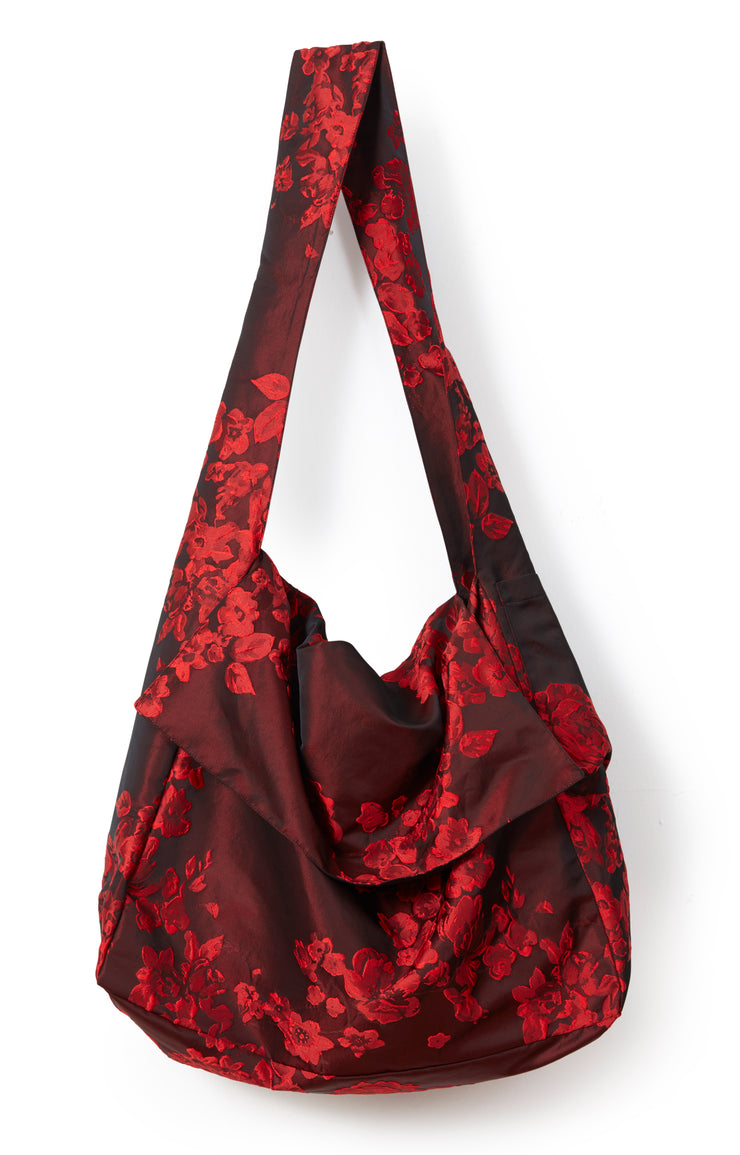Berry Floral Messenger Bag ~ AB101B - Rootchi