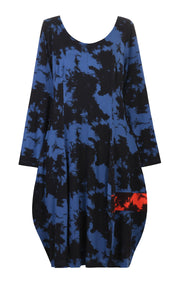 Aura Tie-Dye Dress ~ AD609B Blue - Rootchi