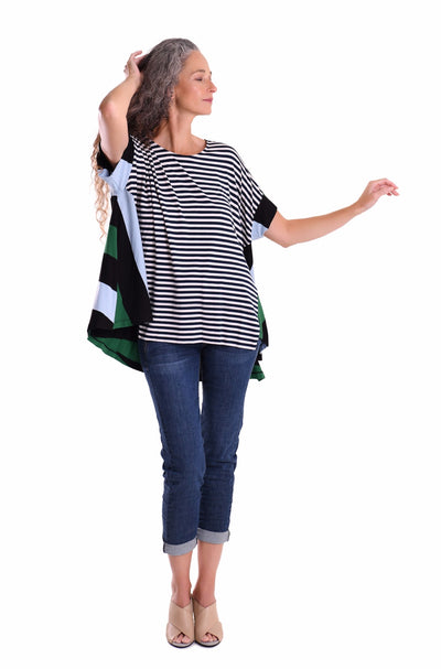 Mixed Stripe Jersey Top ~ ST221S