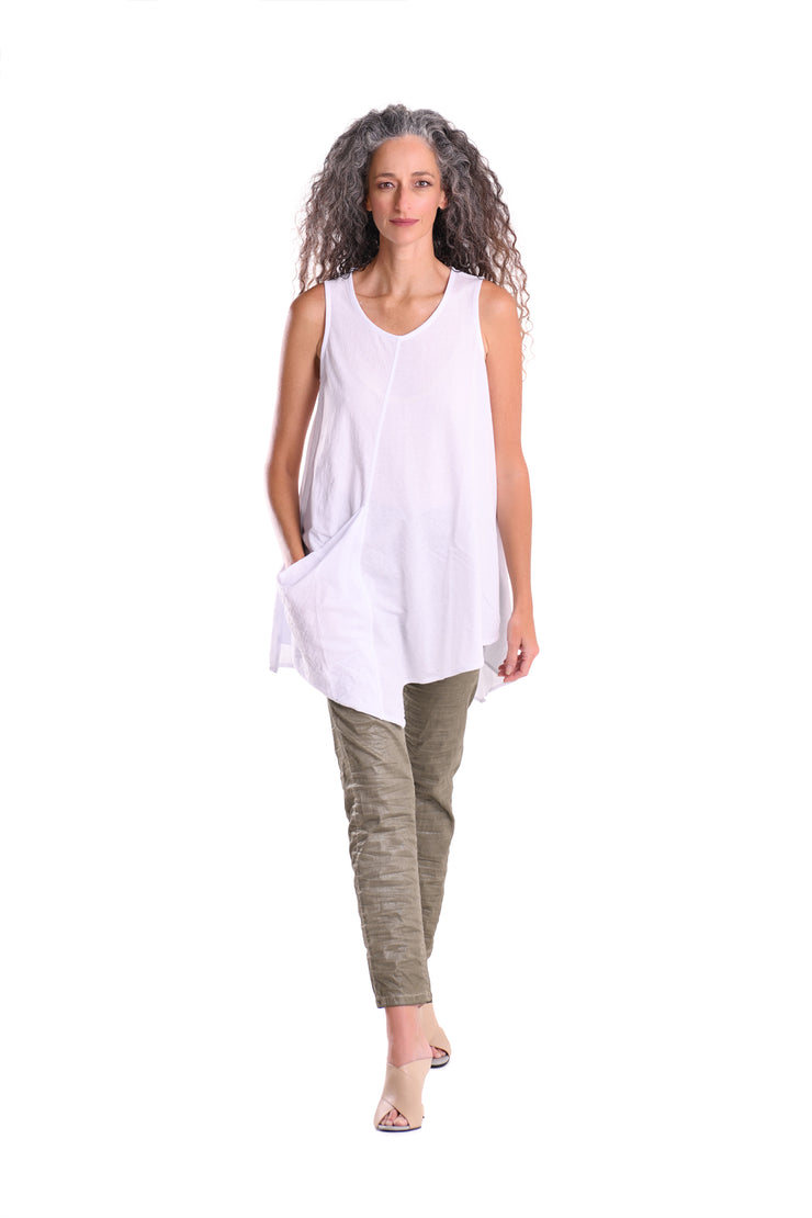 The Everything Tunic ~ ST231W White - Rootchi