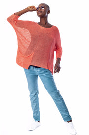 Prana Pocket Sweater ~ SS27C Coral - Rootchi