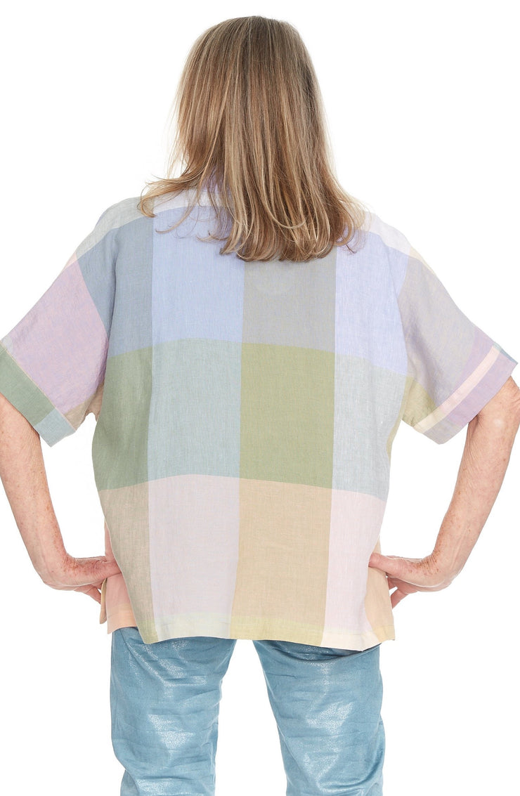Madison Linen Top ~ ST202P - Rootchi