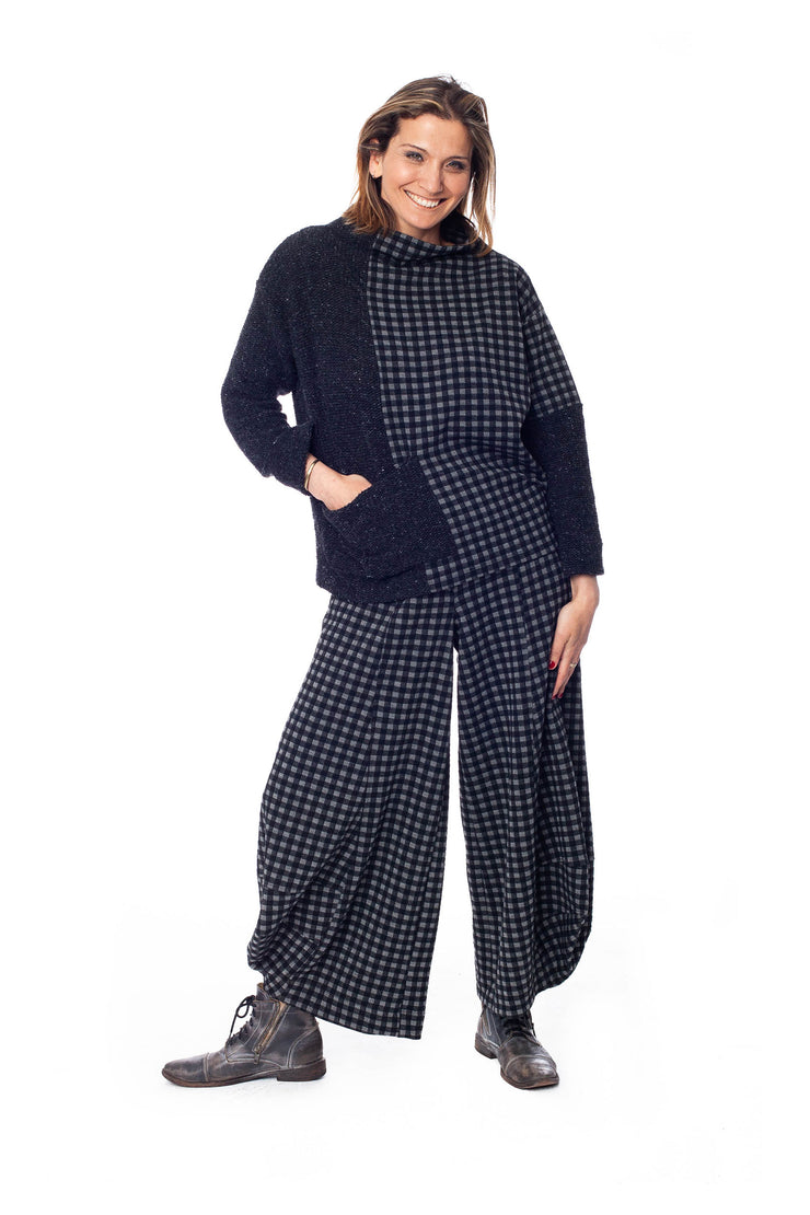 PLAID KNIT PUNTO PANT