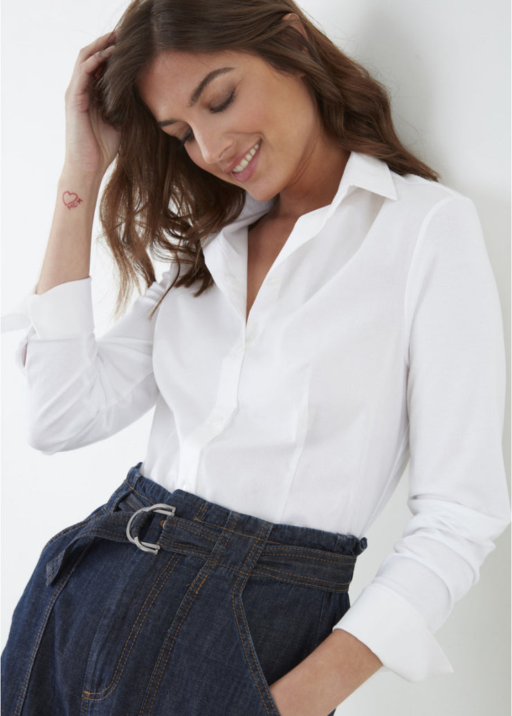 Must-Have Shirt ~ BE3204 Blanc - Rootchi