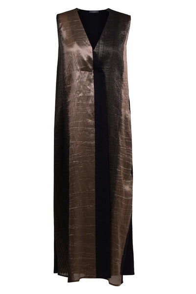 Evening Shimmer Striped Maxi Dress ~ ED401G