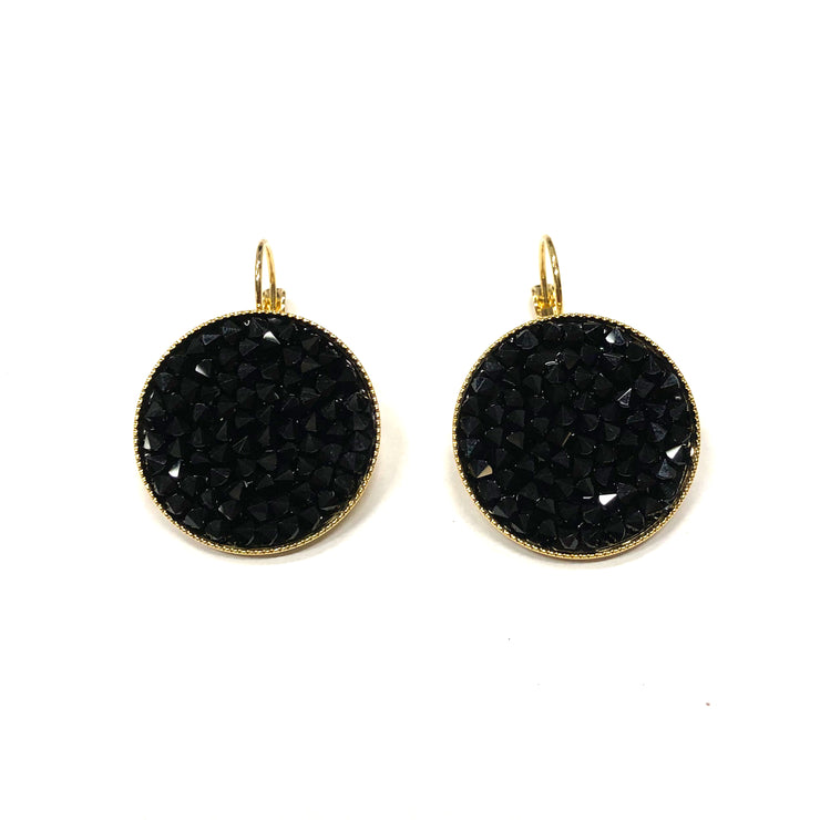 Grace Earrings ~ Black & Gold