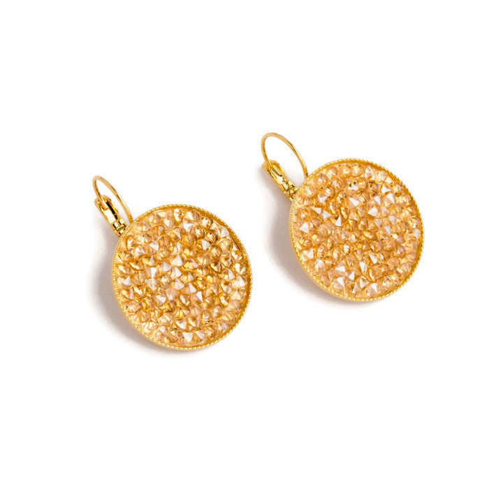 Grace Earrings ~ Champagne & Gold - Rootchi