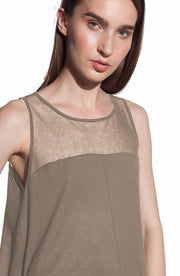 Illusion Tank Top ~ Beige - Rootchi