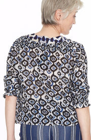 Indigo Beaded Blouse ~ BE3382 - Rootchi