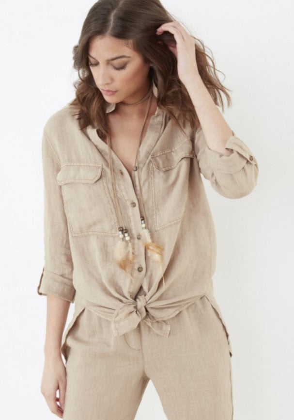 Lea Cotton & Silk Shirt ~ BE3219 - Rootchi