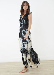 Tam Tie-Dye Maxi Dress ~ RE3212 Indigo - Rootchi