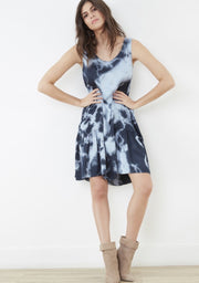 Tara Tie-Dye Dress ~ RE3214 Sky - Rootchi