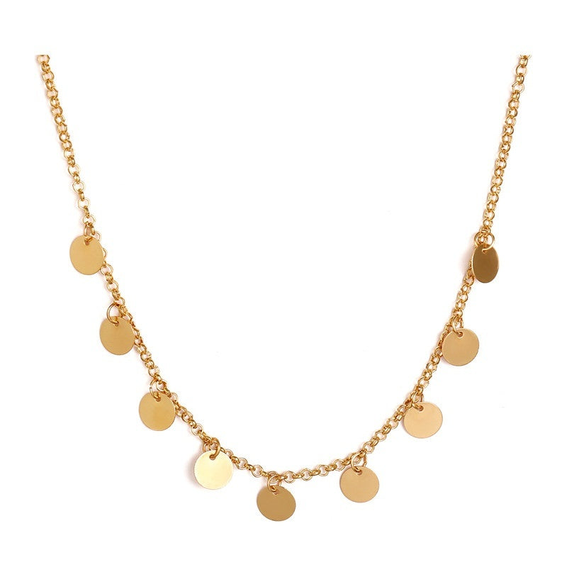 Sequins Coins Tassel Necklace Women Jewelry