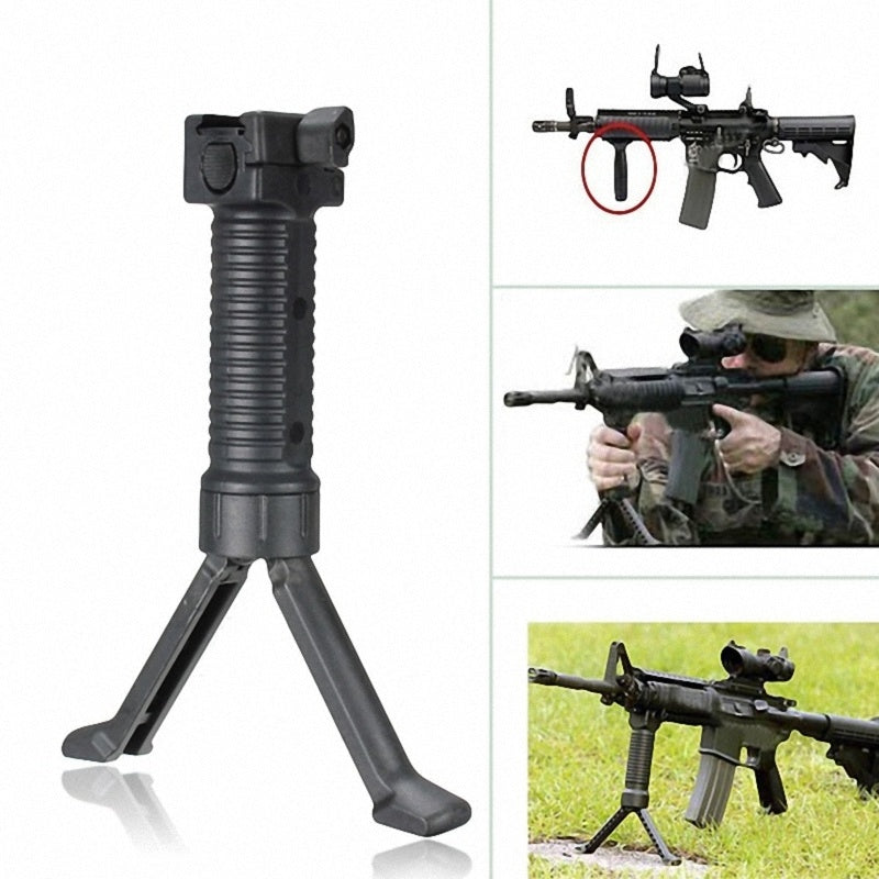 Foldable Trendy Game Outdoor Hand Fore Retractable Spring Vertical Grip Loaded Bipod Stand