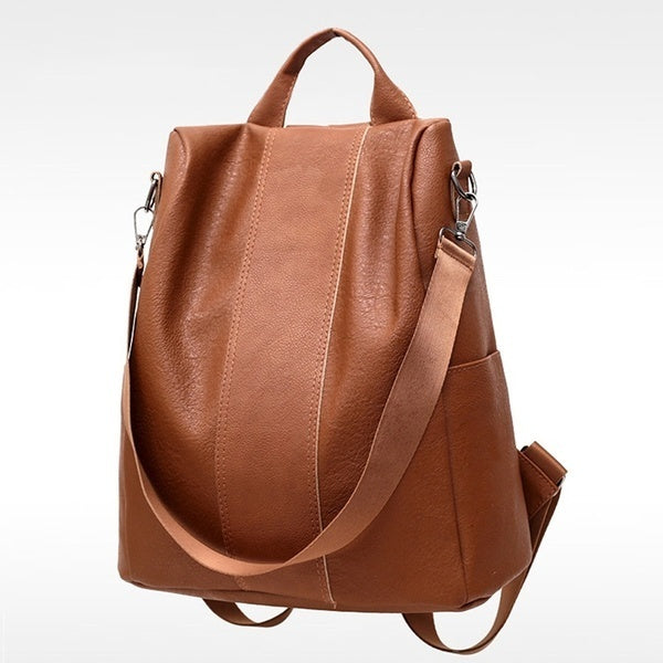 2019 NEW Ladies Faux Leather Shoulder Bag Women Backpack Handbag Anti-Theft Casual Rucksack