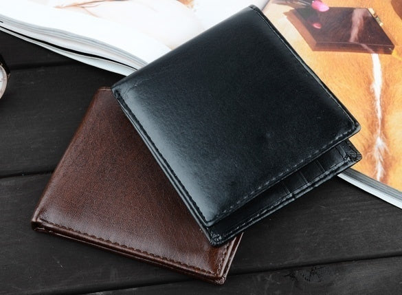 Denleilu Men's Synthetic Leather Wallet Money Pockets Credit/ID Cards Holder Purse 2 Colors