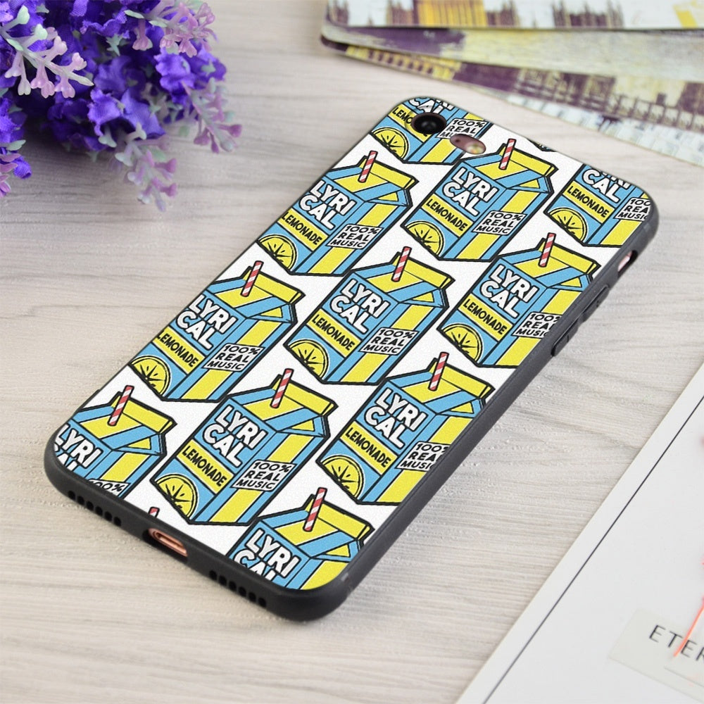 Lyrical Lemonade Print Soft Silicone Matt Case For Apple iPhone and Samsung Galaxy