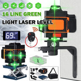 4D 16 Lines Green Light Laser Level Auto Self Leveling 360¡« Rotary Measure Cross