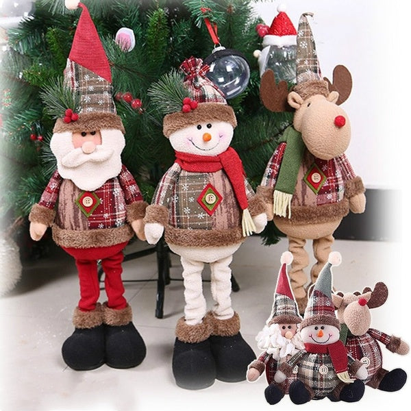 2Types Christmas Decorations For Home Pendants Navidad Christmas Tree Ornaments Hanging Doll Craft Decor Supplier Kids Gift