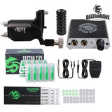 Dragonhawk Tattoo Kit Rotary Machine Power Supply IMMORTAL Needle