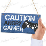 12 Kinds of Gamer Door Hanging Signs Decor Boy Gift Wooden Plaques Home Decoration 3.9'¡Á7.8'