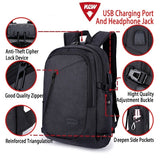 2019 Laptop Backpack, Travel Computer Bag , Anti Theft Water Resistant bag, Slim Business Backpack with USB Charging Port ,Headphone slot ,and Built-in Code Lock Large Capacity Waterproof Computer or book bag Fits Up to 15.6 Inch School Bag for Men Colleg