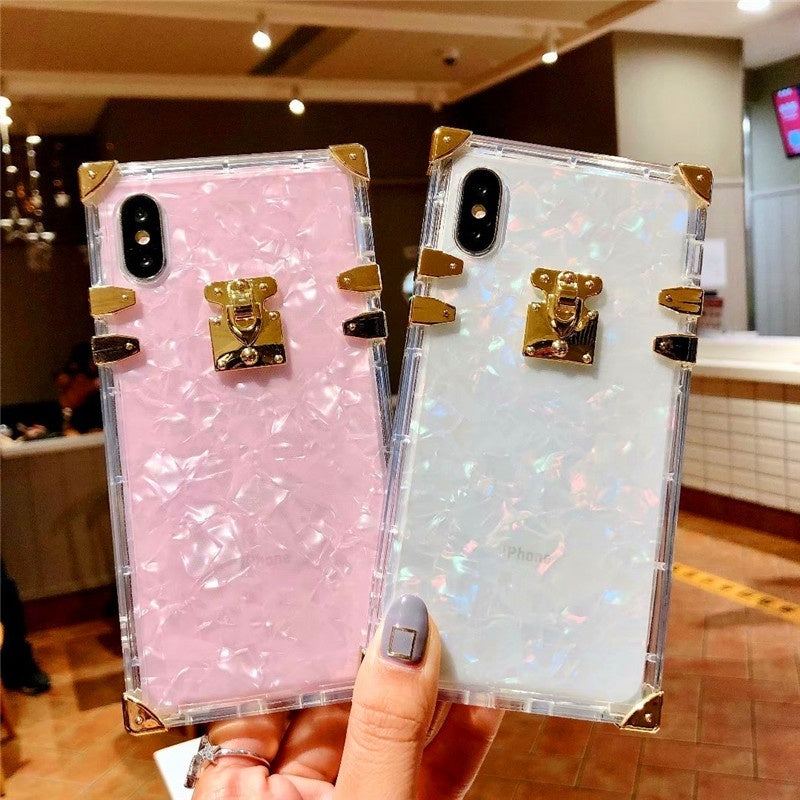 IPhone 11 mobile phone case square iphone 11 pro max square right angle square iphone 11 pro shatterproof Xs Max / Xs / Xr / X color paper 8/7/6 mobile phone protective cover