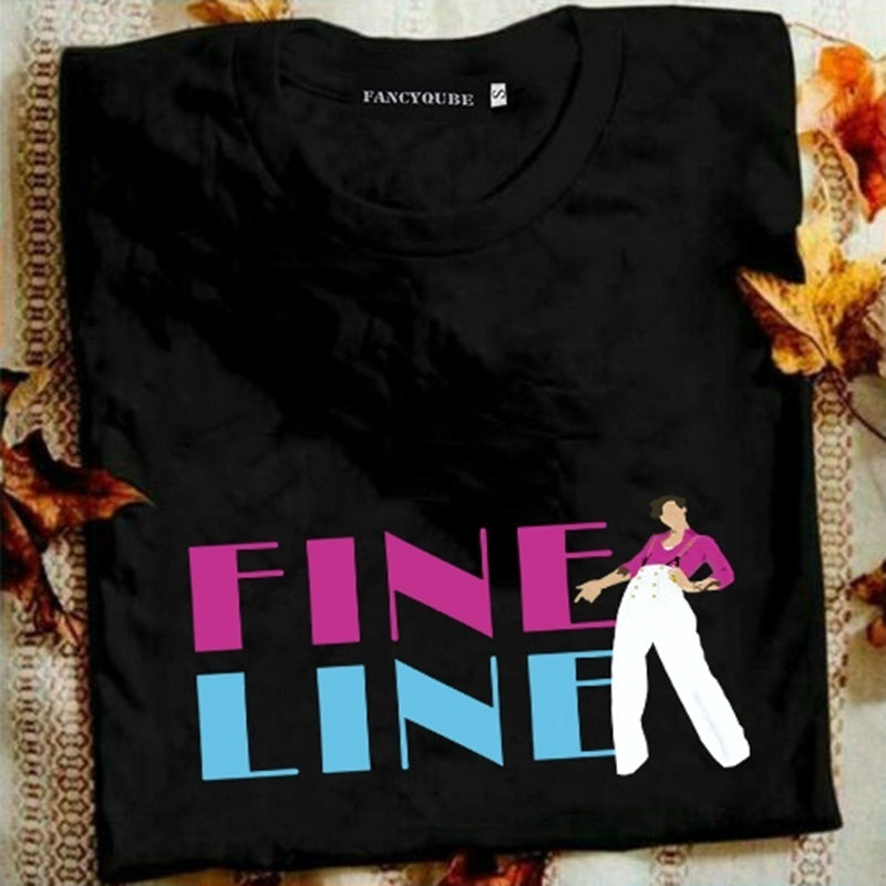 Fashion Unisex Casual Harry Styles T Shirt Fine Line Printed Short Sleeve T Shirt Crew Neck Tee Top